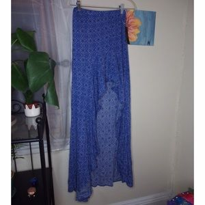 NWT Lulu's High-Low Patterned skirt size small